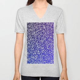 Purple ombre zest Unisex V-Neck