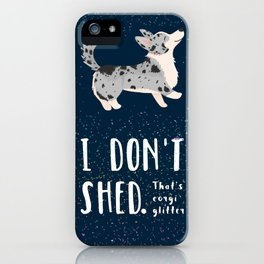 Corgi Glitter - Cardigan Welsh Corgi iPhone Case