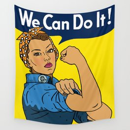 Latina Rosie The Riveter Wall Tapestry