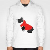boston terrier Hoodies featuring Boston Terrier by Marstella