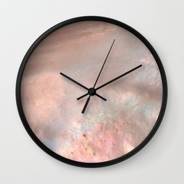Mother of pearl in rose gold Wall Clock