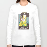 i want to believe Long Sleeve T-shirts featuring i want to believe by Tatyana Soynikova