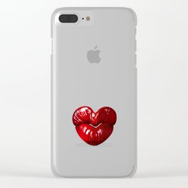 Heart Shaped Lips Clear iPhone Case