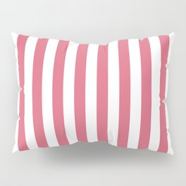 Large Nantucket Red and White Cabana Tent Stripes Pillow Sham