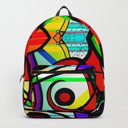 Vacation - abstract art digital drawing Backpack