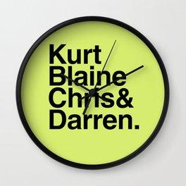 KurtBlaineChris&Darren Wall Clock