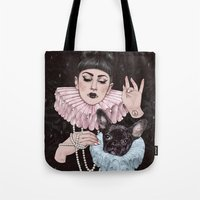 dress Tote Bags featuring Dress Up by Helen Green
