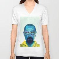 heisenberg V-neck T-shirts featuring Heisenberg by Ned & Ems