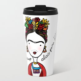 Frida Kahlo by Ashley Nada Travel Mug