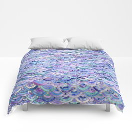 Marble Mosaic in Amethyst and Lapis Lazuli Comforters