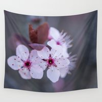 blossom Wall Tapestries featuring Blossom by Michelle McConnell