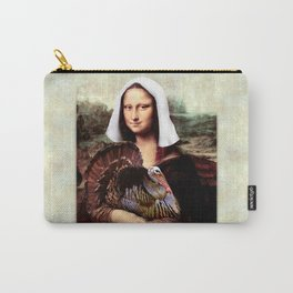 Mona Lisa Thanksgiving Pilgrim Carry-All Pouch
