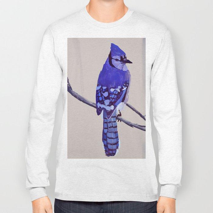 Blue Jay Bird Long Sleeve T-shirt