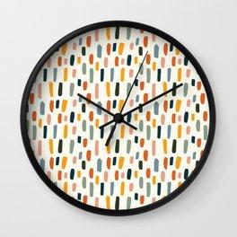 Rainbow Confetti Pattern Wall Clock