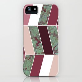Plum Herringbone #society6 #plum #succulent iPhone Case
