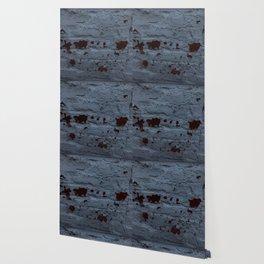 Textured Brick Blue Wallpaper