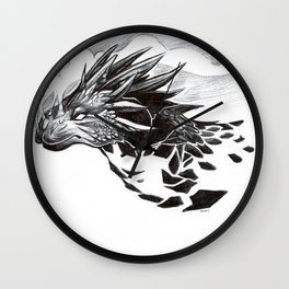 Volcanic Dragon Wall Clock