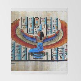 Goddess Isis Throw Blanket