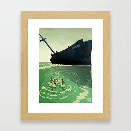 Shipyard Kings Running Framed Art Print
