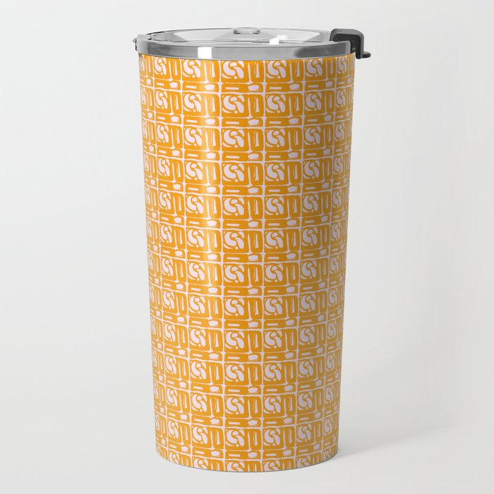 Abstract in Yellow and Cream Travel Mug