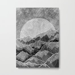 Mountains of silver and grey Metal Print