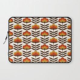 Boogie - retro florals minimal trendy 70s style throwback flower pattern Laptop Sleeve