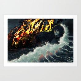 Running to the Sea Art Print