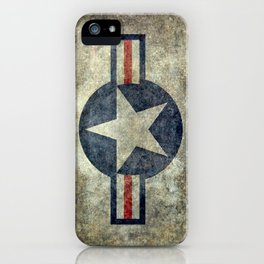 USAF vintage retro style roundel iPhone Case