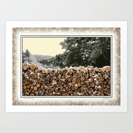 MILD WINTER FIREWOOD Art Print
