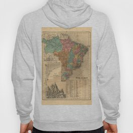 Imperial Atlas of Brazil (1868) - 04 Rivers and Mountains of Brazil Hoody