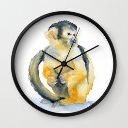 Squirrel Monkey Wall Clock