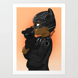 KIDS OF WAKANDA - BABY T'CHALLA Art Print