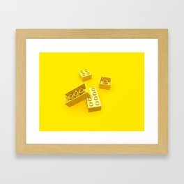Duplo Yellow Framed Art Print