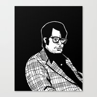 stephen king Canvas Prints featuring Stephen King by Corinne Halbert