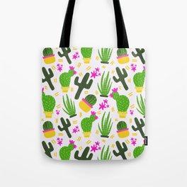 Cactus Pattern of Succulents Tote Bag
