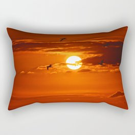 Red Sunset2 False Bay Rectangular Pillow