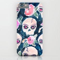 Skulls and Hibiscus iPhone 6s Slim Case