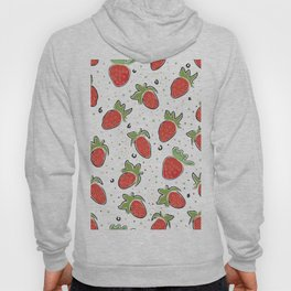 Seamless Pattern With Hand Drawn Strawberries. Hand Drawn Scandinavian Style Hoody