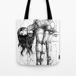 Lady on Table. Workbench. Yury Fadeev. Tote Bag