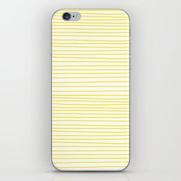 Yellow Lines dancing striped iPhone Skin