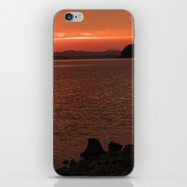 SILENT RED MORNING iPhone Skin