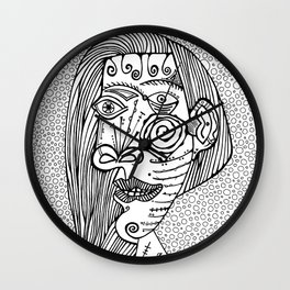 Woman. Picasso Wall Clock