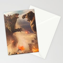 Godzilla vs King Kong Moster Fight Movies Art Print Decor Home Poster Full Size Stationery Cards
