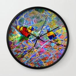 Rainbow Lorikeet Mosaic Wall Clock