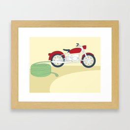 Electric Motorcycle Framed Art Print