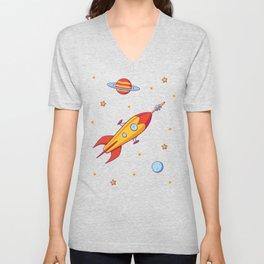 Spaceship! Unisex V-Neck