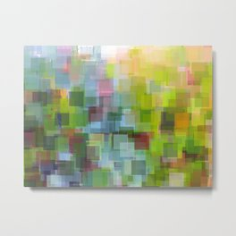 Abstract Grassy Field Metal Print