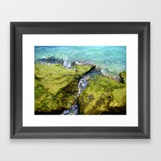 Dip Your Toes Framed Art Print