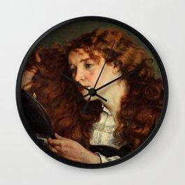 Gustave Courbet - Jo, the Beautiful Irishwoman - Jo, la belle Irlandaise Wall Clock