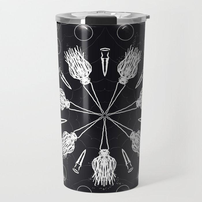 Circle of Brooms Magical Mandala Travel Mug